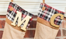 plaid stocking 3